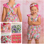 PLAYSUIT ROMPER -  Baby Girl, Frills, Overalls, Gussies