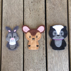 Bambi and Friends Finger Puppet Set