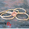 Personalized mixed metal stacker rings handmade by BijouterieOz.
