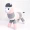 'Arabella' the Sock Alpaca - grey and peach striped - *READY TO POST*