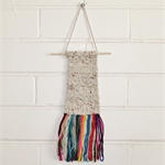 Weaved Wall Hanging, Cream, Grey, White and  Multi-Colours
