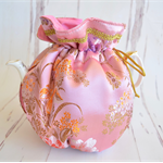 Pink brocade tea cosy, high tea party, insulated tea cosy