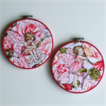 Fairy hoop art pair