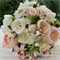 Bridal Bouquet of light pink rose blooms & cabbage roses, white rose,  snowball,