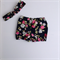 Size 18-24 months Navy floral bloomers bloomies with top knot headband