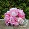 Bridal bouquet of pink, light pink, fuchsia, peony, peony buds.