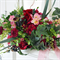 Bouquet of  hydrangea, ranunculus, sweet pea, berries, chrysanthemum, freesia, p