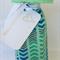 Wine Bottle Gift Bag / Chevrons on Mint