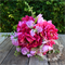 Bridesmaid bouquet of peony, maiden hair fern, sweet pea.