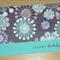 Female Happy Birthday card -  modern flower print