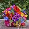 Bridal bouquet, orchid, salvia, poppy, peony, ranunculus, anemone, dahlia.