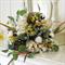 Bouquet of prince protea, gumnuts, berllizia, cotton pod, wax flower, wolf grass