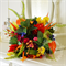 Bouquet of Bird of paradise, cymbidium orchid, calla lily, ginger torch.