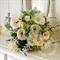 Bridal bouquet, dusty miller, roses, roses, astrantia, pieris, berllizia, sweet