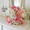 Bridal Bouquet, mini rose buds, peony, baby's breath, lisianthus, peony bud.