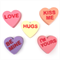 Love Heart Candy Soap - Valentines day gift, conversation hearts, heart lollies