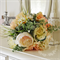 Bouquet of gumnut, eucalyptus seed, spring grass, peony, blushing bride, ornamen