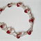 Red & clear beaded bracelet  Costume Jewelry