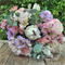 Bouquet of protea, blushing bride, cabbage rose,  wax flower, eucalypt blossom,