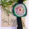 Pink/Green Elastic Bookmark
