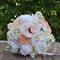 Bouquet of roses, dahlia, lilac, peony buds, peony, ranunculus.