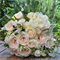 Bouquet of hydrangea, jasmine, veronica, snap dragon, french roses, garden roses