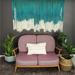 Large Emerald Dip Dye Wall Hanging Weaving Tapestry Macrame