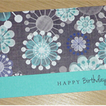 Female Happy Birthday card -  modern flower print