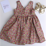 Size 3 - Pretty Floral Girl Tea Party Dress, Girl, Toddler