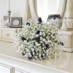 Bouquet of baby's breath, lavender 'Madeline' lavender bridal bouquet