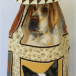 Wine Bottle Gift bag / Dogs