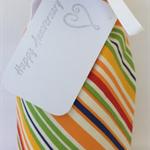 Wine Bottle Gift Bag / Diagonal Stripes