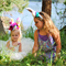 Bunny blossom flower crowns, Easter headbands, Rabbit ears.