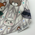 Dribble Bandanna Baby Bib Woodland Animals on Cotton Fabric Soft Bamboo Toweling