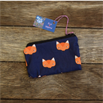 Zipper pouch/coin purse - fox print