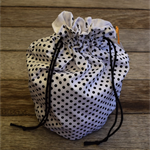 Polka Dot round drawstring bag