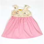 Pink and Floral Girls Dress.