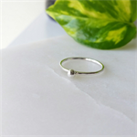 Thin dainty ring. Silver ring with silver ball. Stackable rings. Ring stack