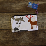 Zipper pouch/coin purse - woodland animal print