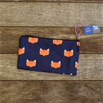 Zipper pouch/pencil case - fox print
