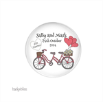 20 medium fridge magnets Custom Wedding Favours - Bicycle