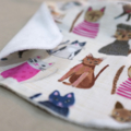 baby bib - cats / organic cotton and bamboo towelling