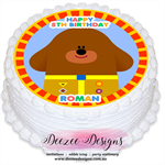 Hey Duggee Personalised Round Edible Icing Cake Topper - PRE-CUT