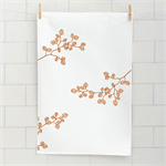 'Fagus' screen printed linen tea towel