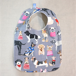 baby bib - dogs / organic cotton and bamboo towelling