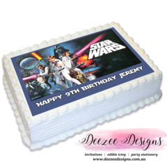 Star Wars Personalised A4 Edible Icing Cake Topper