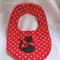 Polka Dot Cat  Baby Bib