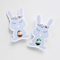 12 Floral Bunny Easter Egg Holders. Easter cards. Classroom or workplace gift.