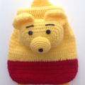 Winnie de pooh Gift set: one crochet Pooh + one Pooh backpack + one pooh coinbag
