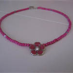 Hot Pink Pendant Necklace